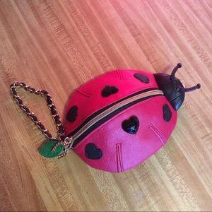 Betseyville Johnson ladybug wristlet pouch